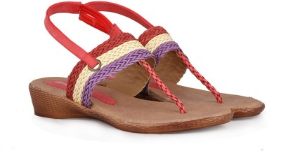 Touristor Women Red Wedges