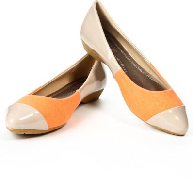 Jove Women Orange, Beige Heels