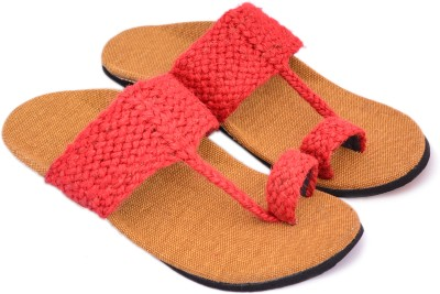 Sapphire Men Red, Brown Sandals