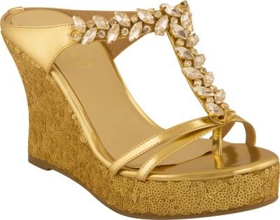 Zaera Women Gold Wedges
