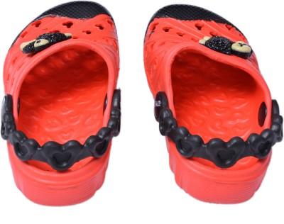 Crocslite Boys, Girls Red, Black Sandals