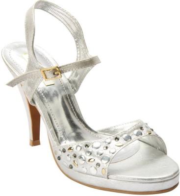 Wet Blue Women White Heels