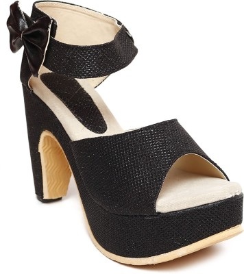 Laila Collection Women Black Heels