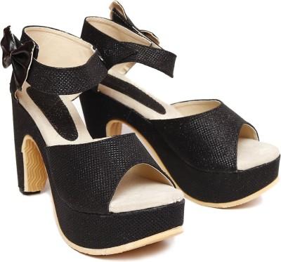 Vovina Women Black Heels