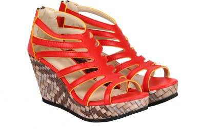 Pariz Women Red Wedges