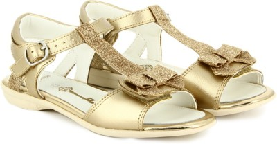 Clarks Orra Noon Gold Girls Gold Flats