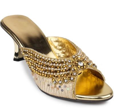 Addo Women Gold Heels