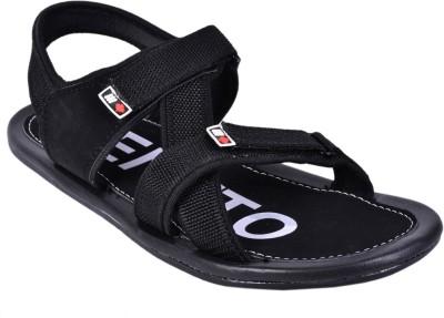 CENTTO Men Black Sandals