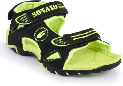 Sonaxo Men Black Sandals