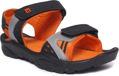 M&H Men Black, Orange, Grey Sandals