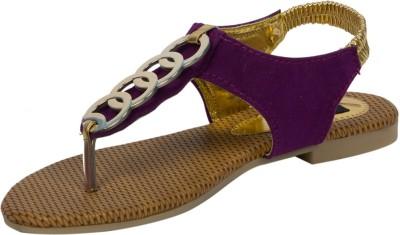 Adelee Women Purple Flats