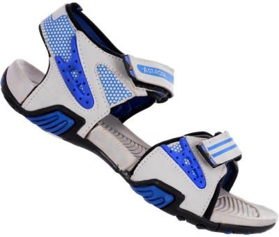 Per Te Solo Men Grey, Blue Sandals