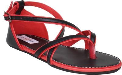 Stylistry Diamond Red & Black Women Women Red, Black Flats