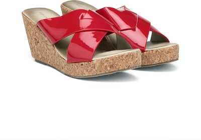 MFT Couture Women Red Wedges at flipkart