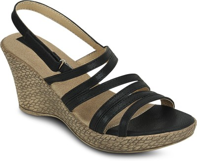 Kielz Women Black Wedges at flipkart