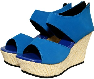 Port Women Blue Wedges