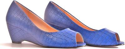 vanson Women Blue Wedges
