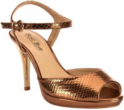 Ronnie Grey Women Brown Heels