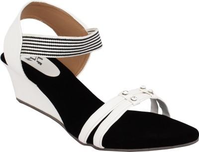 Hirafashionwear Women White Wedges