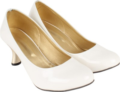 Authentic Vogue Women White Heels