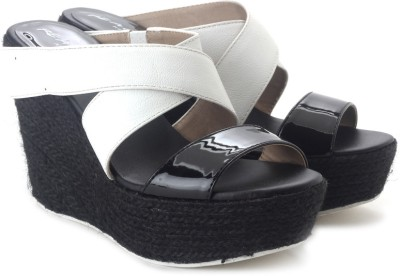 Kenneth Cole Oscar Rent Her P Women Women Black, White Wedges