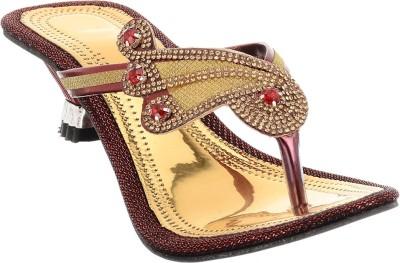 Brandvilla Women Gold Heels