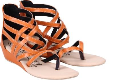 Fashion Mafia Women Orange Wedges