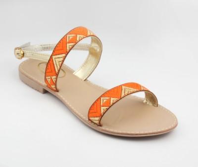RUNWALK Girls Orange Flats