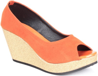 Soft & Sleek 1349 Orange Women Orange Wedges