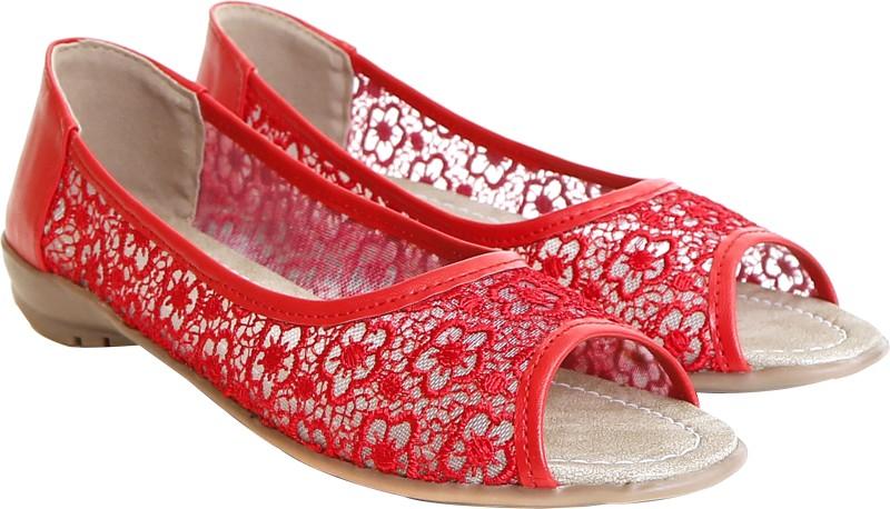 Craze Shop Women Red Flats