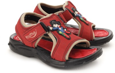 Footfun By Liberty Boys Red Sandals
