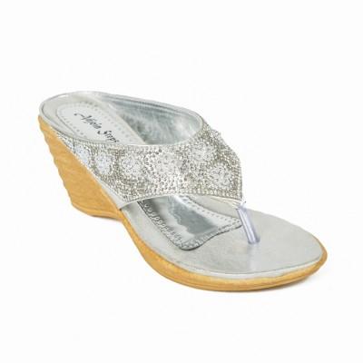 Adjoin Steps Women Silver Wedges