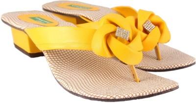 Vinayak Collection Women Yellow Heels