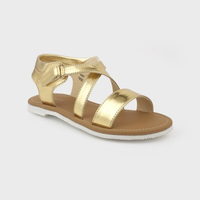 Kittens Girls Gold Sandals
