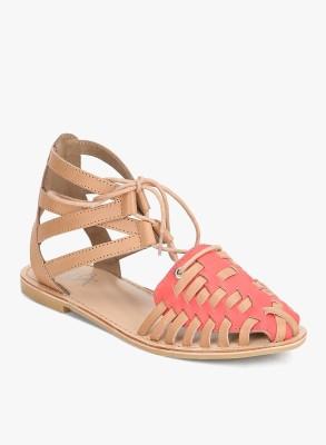 Zebba Women Pink Flats