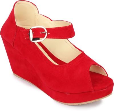 Hanna Women Red Wedges