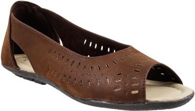 MSL Women Brown Flats