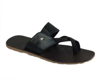 Shoe Bazar Non Leather Men Black Sandals