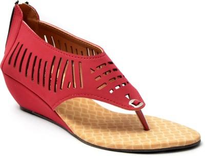 Leeway Women Red Wedges