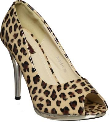 Flat n Heels Women Beige Heels