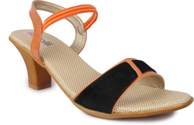 Kajjalli Women Orange Heels