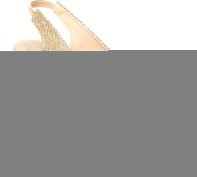 MK COLLECTIONS Women Gold Heels