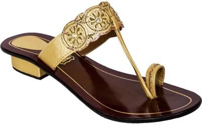 Rialto Women Gold Flats