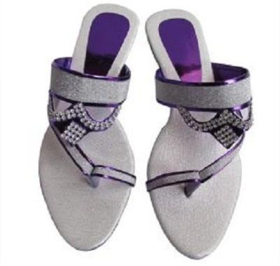 kinzaCreation Girls Purple Heels