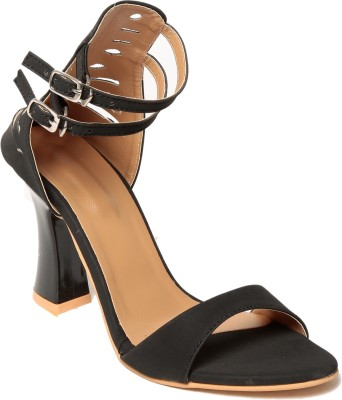 Adorn Women Black Heels
