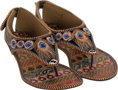 Myra Ethnic Hand Embroidered Women Multicolor Flats