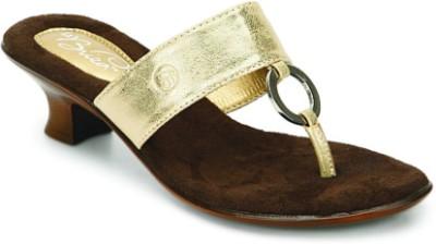 La Briza Priya Women Gold Heels