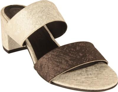 Salt N Pepper 14-262 Wendy White Black Women Brown, Gold Heels