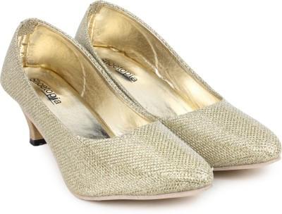 Shoetopia Women Gold Heels