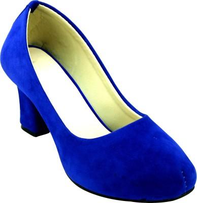 Sam Stefy Women Blue Heels